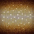 Abstract gold mosaic vector background with lights Royalty Free Stock Photo