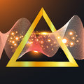 Abstract gold wave in triangle