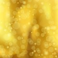 Abstract a golden background with bokeh vector holiday illustration eps Stock Images