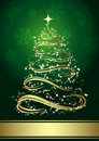 Abstract golden christmas tree Stock Images