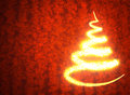 Abstract golden christmas tree Royalty Free Stock Image