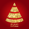 Abstract golden Christmas tree Stock Photography