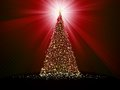 Abstract golden christmas tree on red eps background vector file included Stock Photos