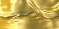 Abstract golden cloth background. Fantasy liquid material Royalty Free Stock Photo