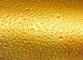 Abstract golden drops of water. Stock Image