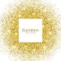 abstract golden glitter sparkles frame