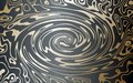 Vector. Gold on a dark background. Abstract image of marble. A swirling stream of gold metal.
