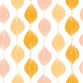 Abstract golden ogee seamless pattern background vector with hand drawn elements Royalty Free Stock Photography