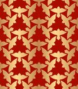 Abstract golden seamless pattern with pigeon birds Royalty Free Stock Photo