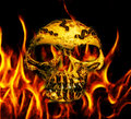 abstract golden skull Royalty Free Stock Photo