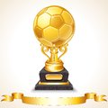 Abstract golden soccer trophy vector illustration this is file of eps format Royalty Free Stock Photography