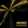 Abstract goldet halftone geometric background. Vector illustration