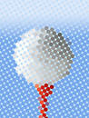 Abstract golf ball Royalty Free Stock Photo