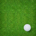 Abstract golf sport background of golf ball and golf hole on green grass background. Royalty Free Stock Photo
