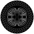 Abstract gothic illustration with celtic symbol in knotted circle Royalty Free Stock Photo