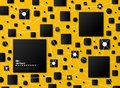 Abstract gradient black geometric on yellow tech background. illustration vector eps10