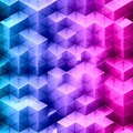 Abstract gradient cube background Royalty Free Stock Photos