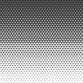 Abstract gradient pattern with triangles. Halftone texture.