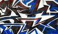 Abstract grafitti background painted wall segment of an urban detail Royalty Free Stock Photo