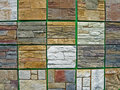Abstract granite wall, stone heap diversity, Royalty Free Stock Photos