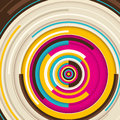Abstract graphic with circles colorful Stock Images