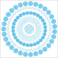 Abstract graphic circular blue background for des floral design covers clothes dishes packing and other purposes isolated Stock Photos
