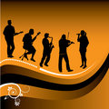 Abstract graphic of musicians Royalty Free Stock Image