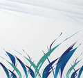 Abstract grass on white clean background vector design Royalty Free Stock Photo
