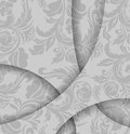 Abstract gray background beautiful flower with lines Stock Images