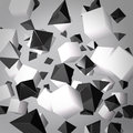 Abstract gray background made of white cubes and black prisms Royalty Free Stock Image
