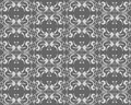 Abstract gray floral seamless Stock Photography