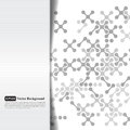 Abstract grayscale card with crosses Stock Photography