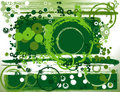 Abstract greeen composition Stock Photo