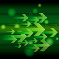Abstract green arrow Stock Photography