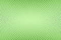 Abstract green background with dots array in a concave shape Royalty Free Stock Images