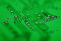 Abstract green background - electronic components Royalty Free Stock Photo