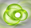 Abstract green background with glass round shapes Royalty Free Stock Photography