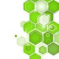 Abstract Green Background Hexa...