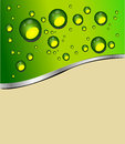 Abstract green background template illustration Royalty Free Stock Images