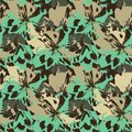 Abstract green and beige flowers like leopard animal motif.