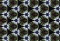 Abstract green black circle pattern wallpaper. Royalty Free Stock Photo