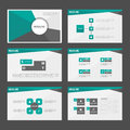 Abstract Green black presentation templates Infographic elements flat design set for brochure flyer leaflet marketing Royalty Free Stock Photo