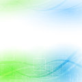 Abstract green blue particle wind vector illustration Royalty Free Stock Photo
