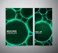 Abstract green circle pattern. Graphic resources design template. Royalty Free Stock Photo