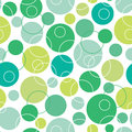 Abstract green circles seamless pattern background vector with geometric shapes Royalty Free Stock Images