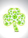 Abstract green clover Stock Photo