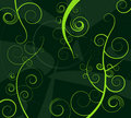 Abstract green curls Stock Image