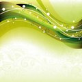 Abstract Green Curve Stock Image
