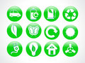 Abstract green eco icon Royalty Free Stock Photography