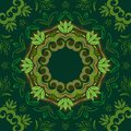 Abstract green floral background with round vector pattern Royalty Free Stock Photo